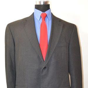 Hagger 46L Sport Coat Blazer Suit Jacket Dark Gray